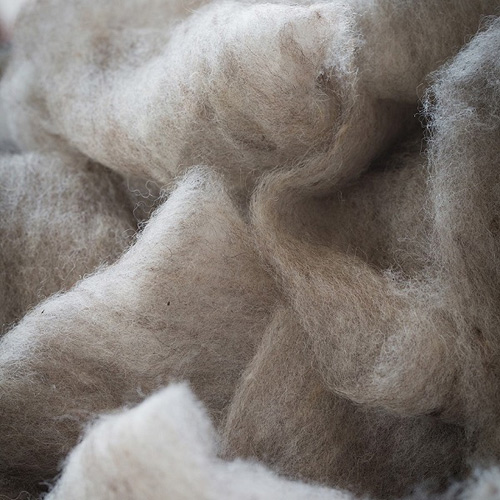 Zoom on wool fibres